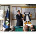 Zeno Chiarotto presenta PALLINO, la mascotte del TSN CEREA